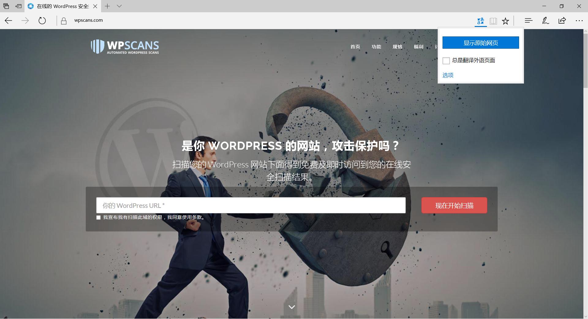 《在线检测WP站点是否安全——小文's blog》