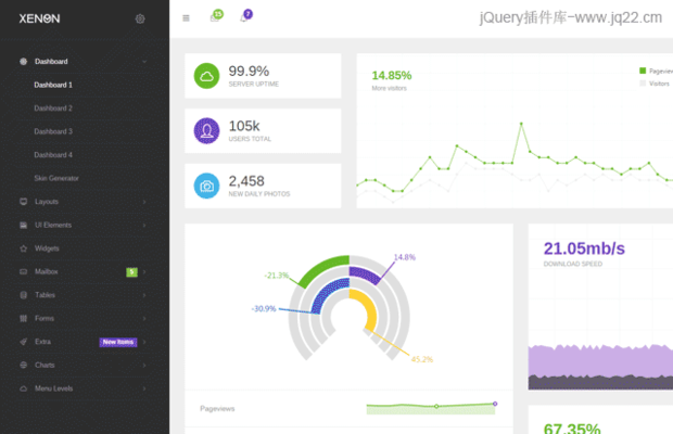 Bootstrap后台模板管理框架