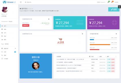 Amaze UI Admin index Examples.png