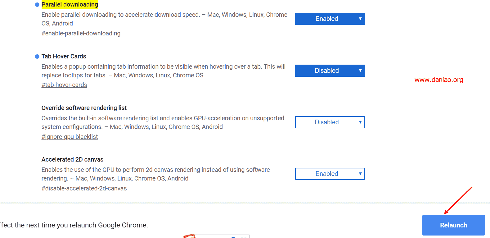 Google Chrome浏览器开启Parallel downloading(多线程下载)